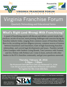 VFF (What's Right and Wrong With Franchising?)