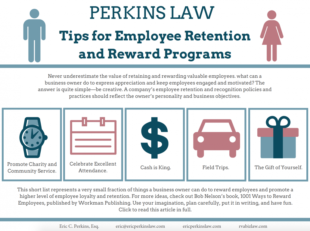 perkins law pllc tips for employee retention and reward programs
